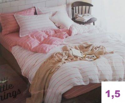Комплект постельного белья.Простыня на резинке.(1,5-спальный)